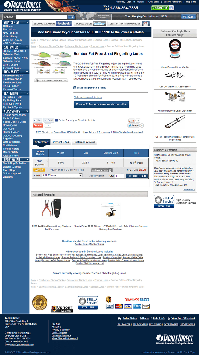 CRO treatment on product page