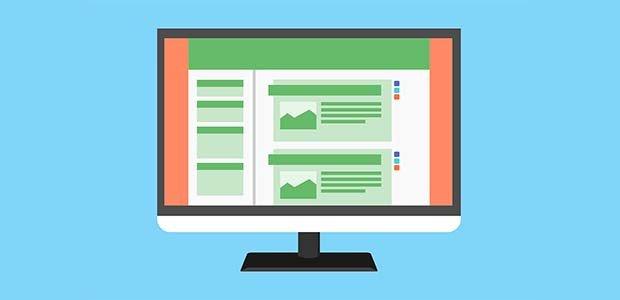 illustration of a website