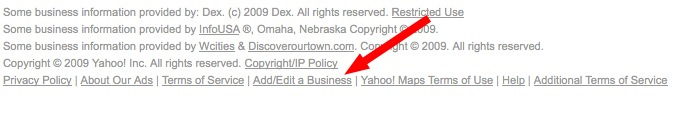 Edit a business on Yahoo local