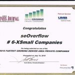 seOverflow A Finalist for Denver's Fastest Growing Companies List