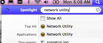 spotlight network utility