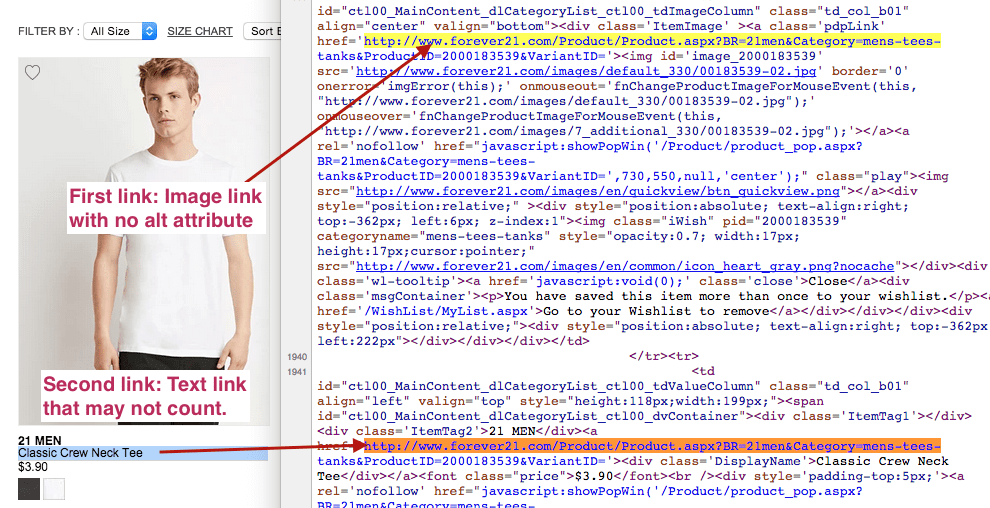 Forever 21 Category Page Code