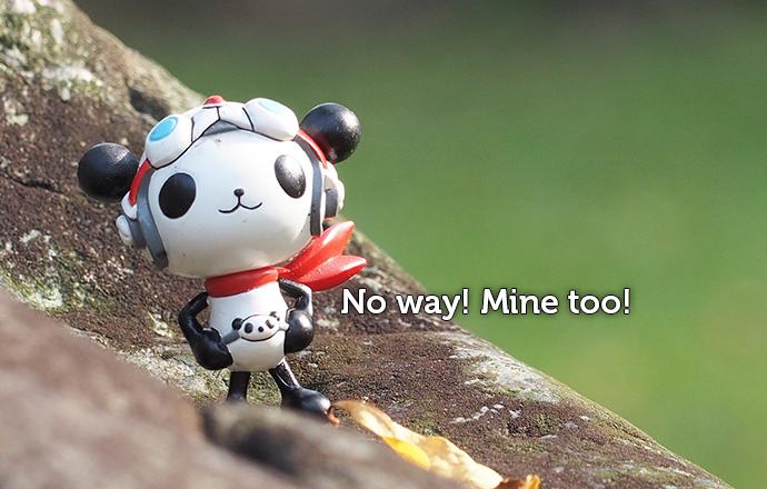 Panda figurine agreeing