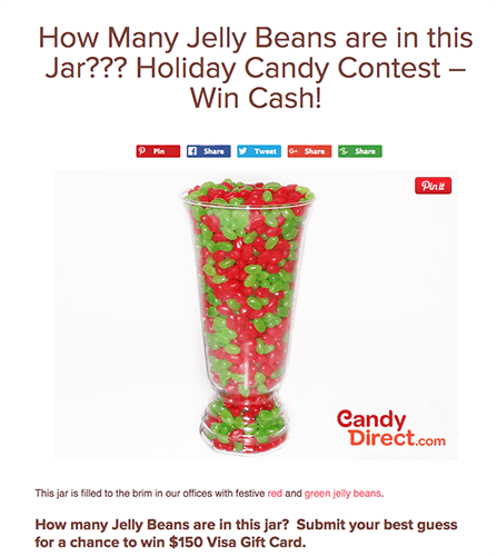 How many jelly beans in the jar contest from candy direct