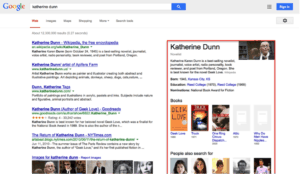 Knowledge graph in SERPS