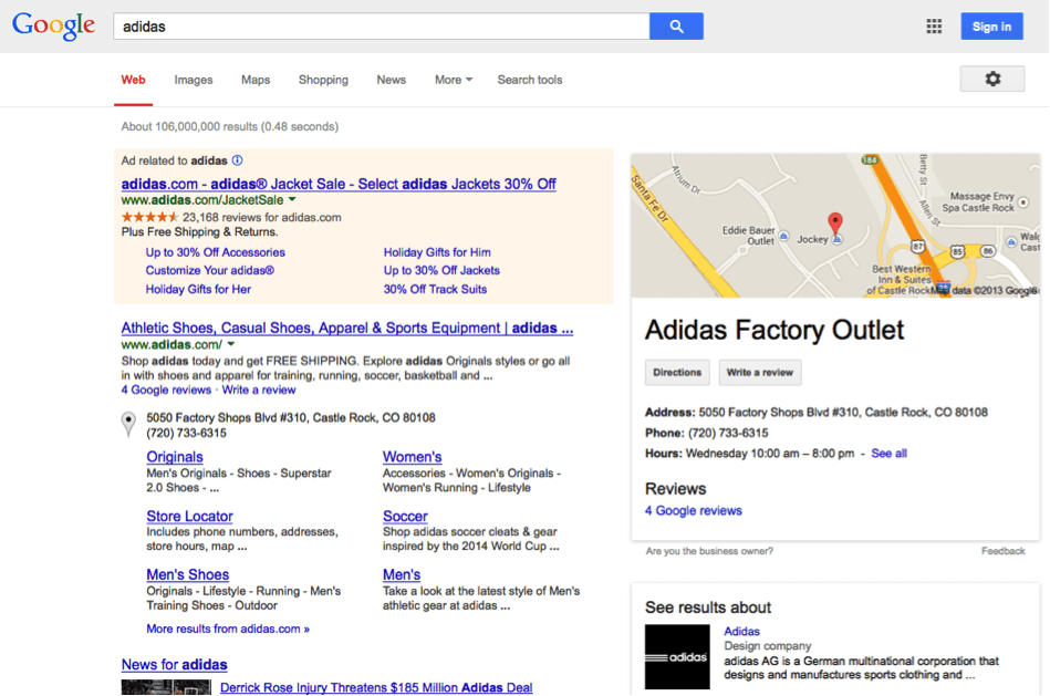 explanation of google s ecommerce search engine result pages serps