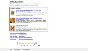 articles in SERPs