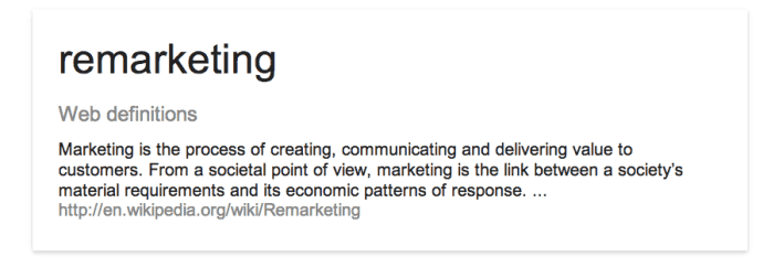 Remarketing definition