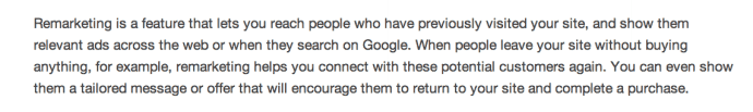 Google's definition of remarking