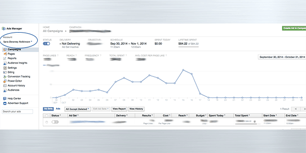 Facebook ad analytics