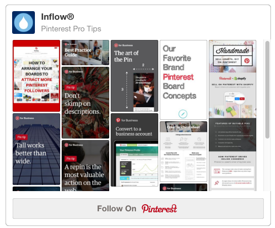 Inflow's Pinterest Pro Tips Board
