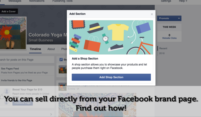 Add a Facebook Shop