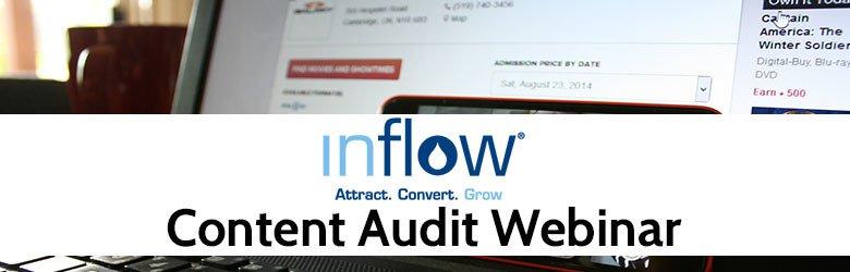 inflow's content audit webinar