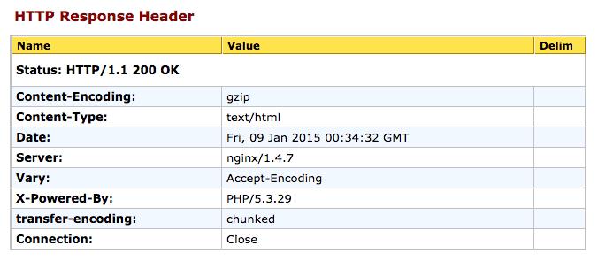 Orkin's HTTP Header Response