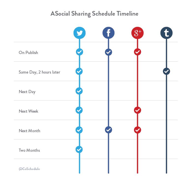 social schedule timeline
