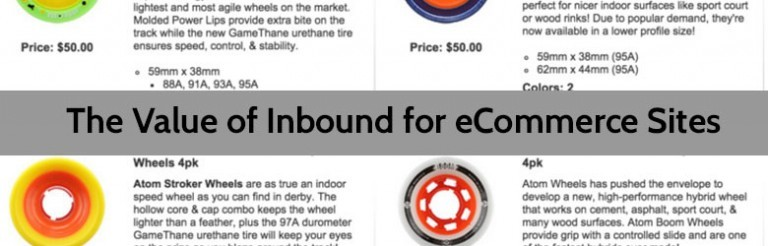 the value of inbound for ecommerce sites.