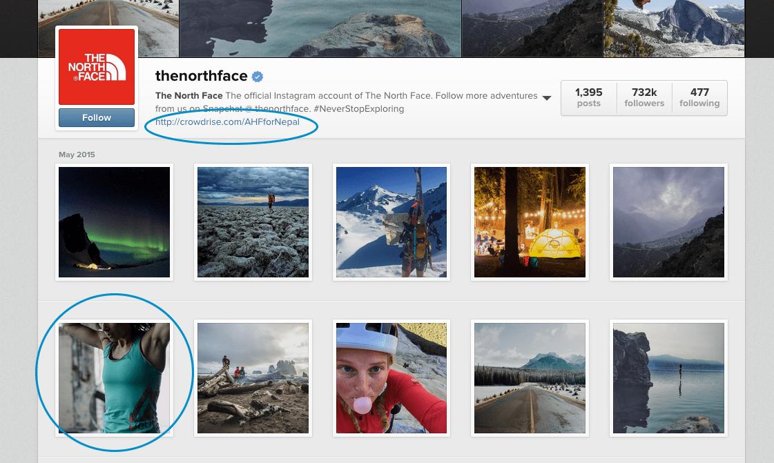 Northface Instagram