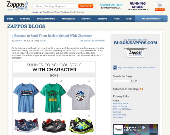 blog.zappos.com