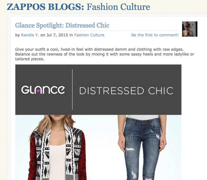 Zappos fashion blog