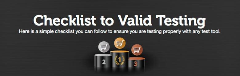 checklist to valid testing