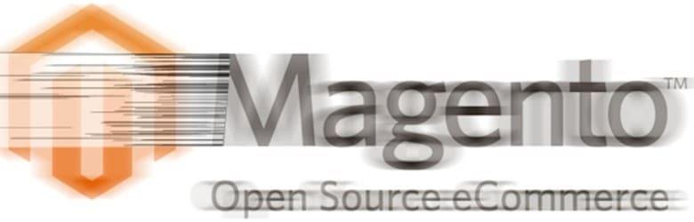 A blurred Magento logo.