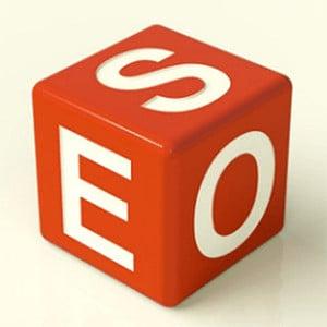 Cube that says S E O