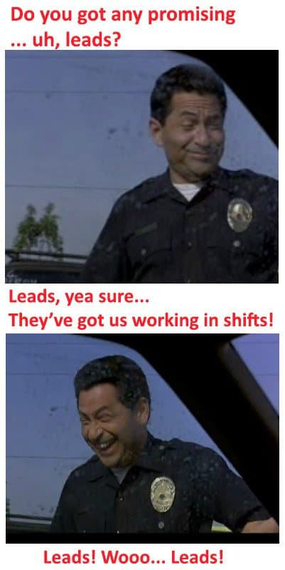 police officer with no leads