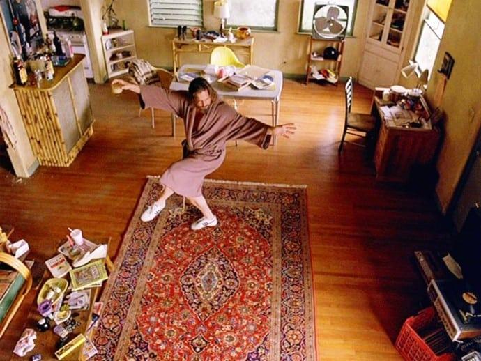 lebowski on a rug