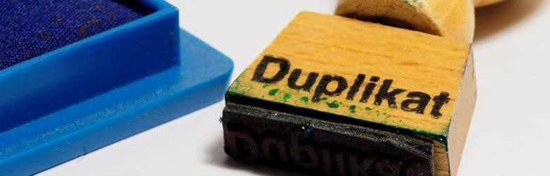duplikat stamp