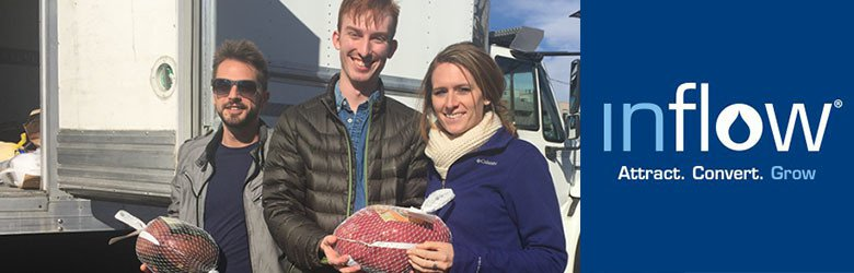 inflow donates turkeys to the denver rescue mission