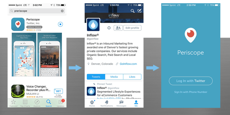 Steps to get started with Periscope app
