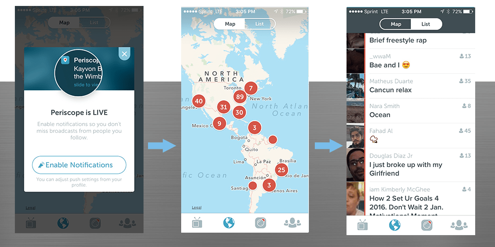 making connections on periscope
