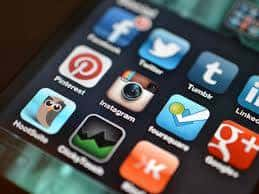social media icons to share web content
