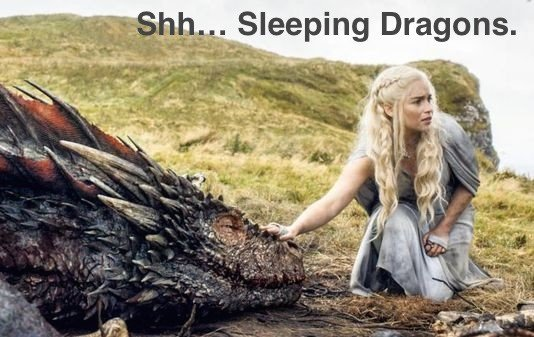 Sleeping Dragon Frame from Game of Thrones