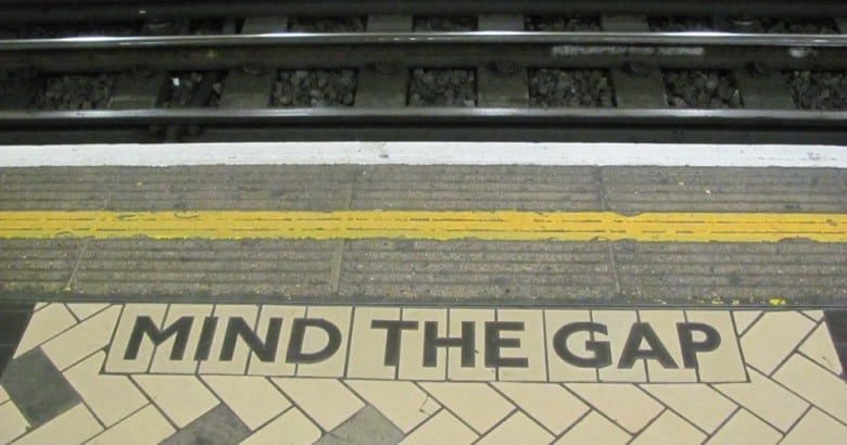 Mind The Gap image from Wikimedia.