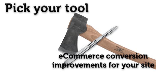 eCommerce conversions site improvements