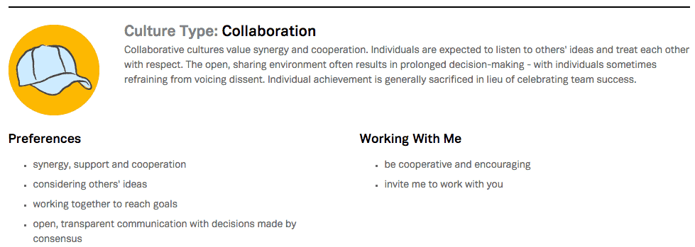 Collaboration Cultural Type