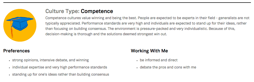 Competence Culture Type Roundpegg Survey