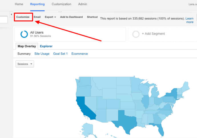 Customize Report in Google Analytics