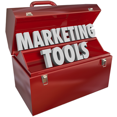 Marketing tools in tool box