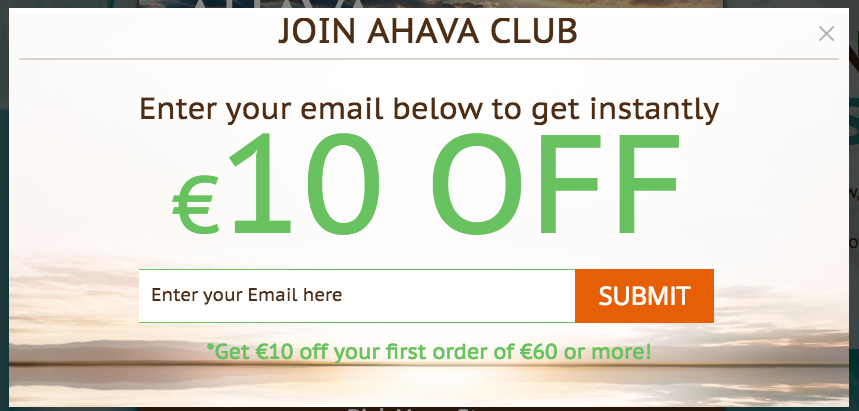 Ahava Club Offer