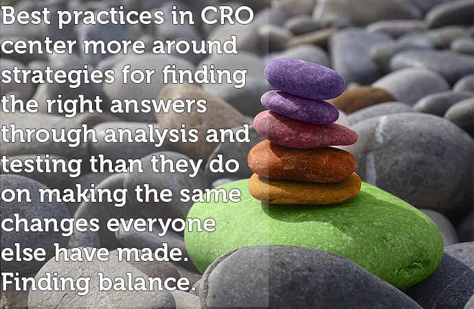 finding balance in CRO best practices