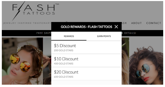 Flash Tattoos Offer Screenshot