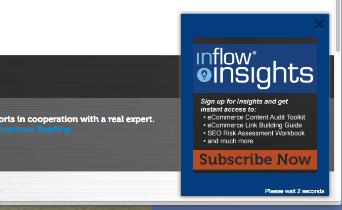 Inflow Insights Slide-Out Offer