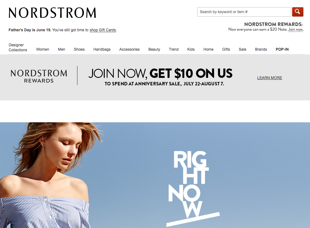 Nordstrom eCommerce Offer