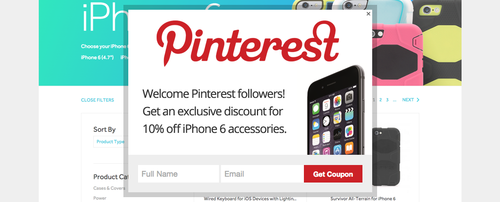 Personalized Pinterest Offer