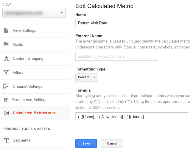 Calculation metrics