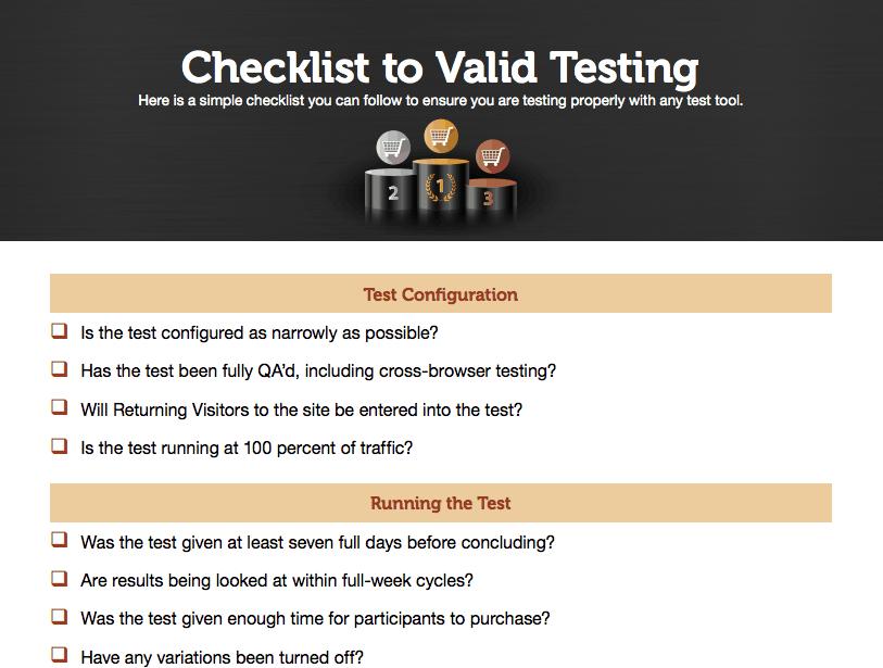 Get the Valid Testing Checklist!