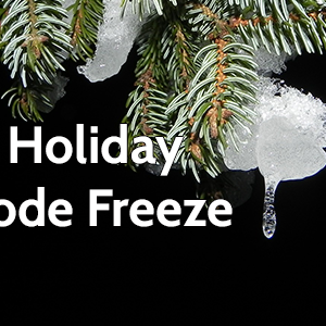 Holiday Code Freeze an evergreen tree with ice