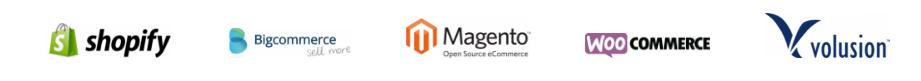 Intergration logos from eCommerce platforms